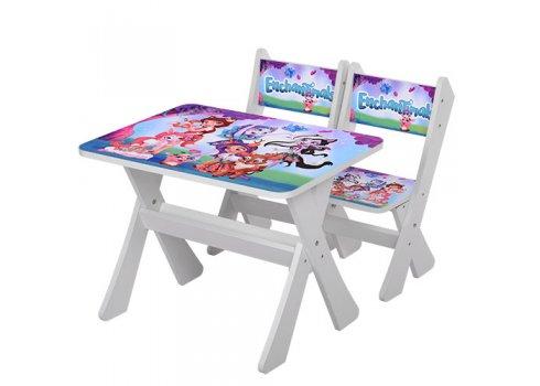 Детская столик и два стульчика Enchantimals, Bambi М 2100-14 белый