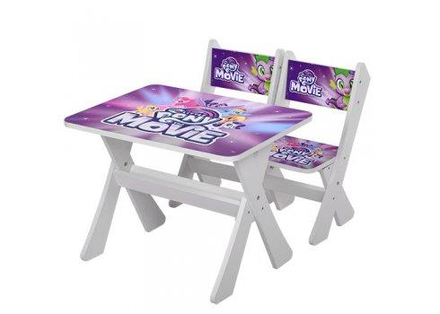 Детская столик и два стульчика Литл Понни, Bambi М 2100-15 белый