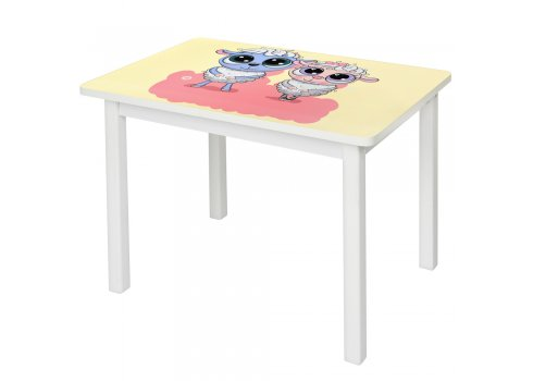 """Детский деревянный столик со стульчиком """"Овечка"""" BSM2K-02"""