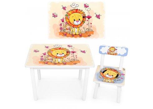"""Детский деревянный столик со стульчиком """"Лев"""" BSM2K-03"""