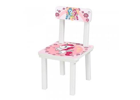 """Детский деревянный столик со стульчиком """"Единороги"""" BSM2K-04"""