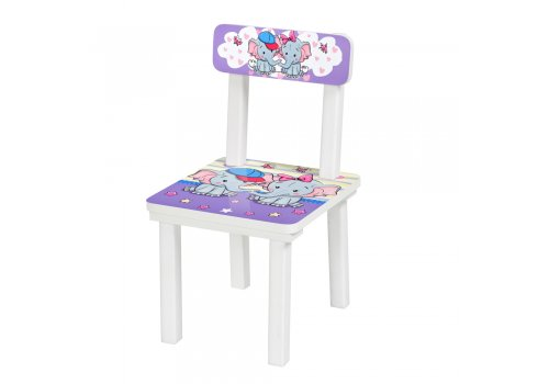 """Детский деревянный столик со стульчиком """"Слоник"""" BSM2K-05"""