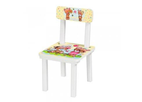 """Детский деревянный столик со стульчиком """"Малыш и мишка"""" BSM2K-06"""