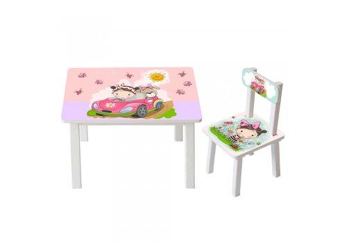 Детский деревянный столик со стульчиком BSM2K-09