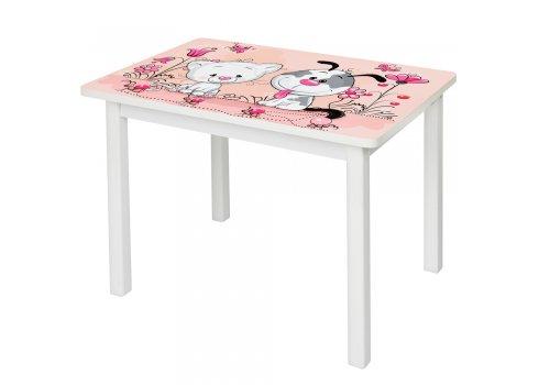 Детский деревянный столик со стульчиком Котенок BSM2K-10К