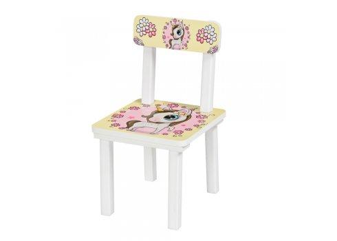 Детский деревянный столик со стульчиком Единорог BSM2K-21