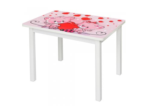 Детский деревянный столик со стульчиком Котята BSM2K-23 розовый
