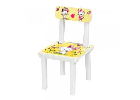 Детский деревянный столик со стульчиком Котики BSM2K-24