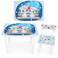"""Детский деревянный столик со стульчиком """"Котята"""" BSM2K-25"""