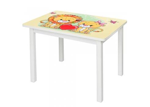 """Детский деревянный столик со стульчиком """"Львята"""" BSM2K-26"""