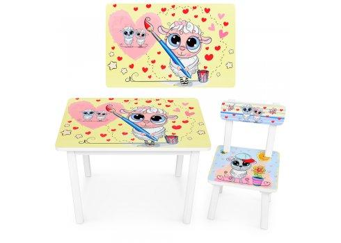 """Детский деревянный столик со стульчиком """"Овечка-художник"""" BSM2K-28"""