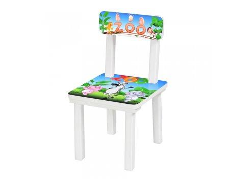 Детский деревянный столик со стульчиком Зоопарк BSM2K-33