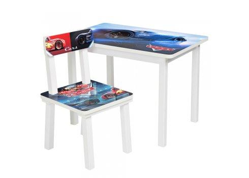 Детский деревянный столик со стульчиком Тачки BSM2K-M06