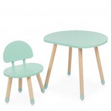 Детский столик со стульчиком Bambi Mushroom M 4254 mint