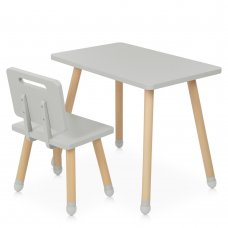 Детский столик со стульчиком Bambi Square M 4256 gray