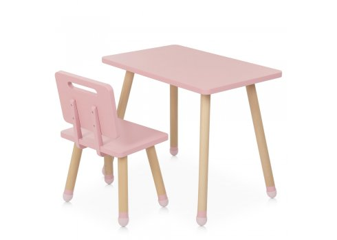 Детский столик со стульчиком Bambi Square M 4256 pink