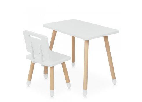Детский столик со стульчиком Bambi Square M 4256 white