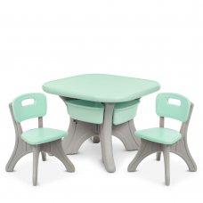 Детский столик с двумя стульчиками BAMBI NEW TABLE-5 мятный