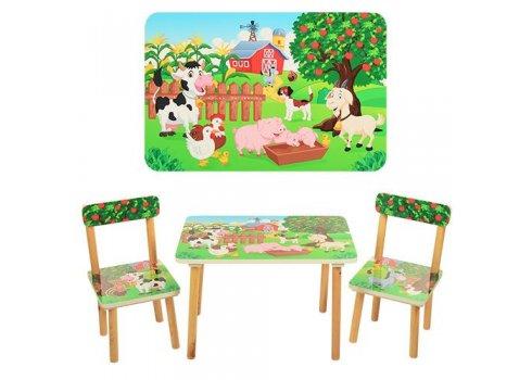 Деревянный столик и два стульчика Ферма 501-10