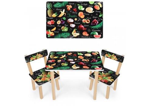 Деревянный столик и два стульчика Фрукты 501-111