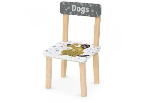 Деревянный столик и два стульчика Собаки 501-116 белый