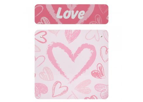 Деревянный столик и два стульчика Сердечка 501-118 розовый