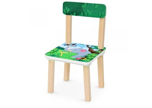 Деревянный столик и два стульчика Зоопарк 501-11