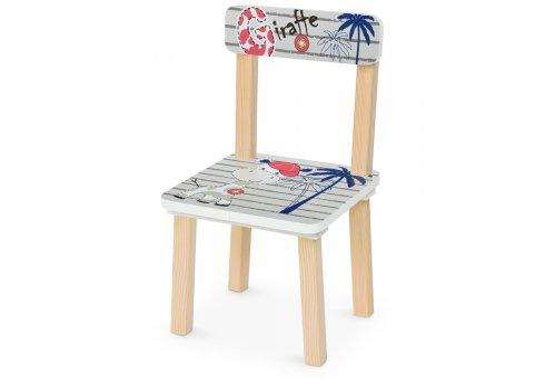 Деревянный столик и два стульчика Жираф 501-123 серый
