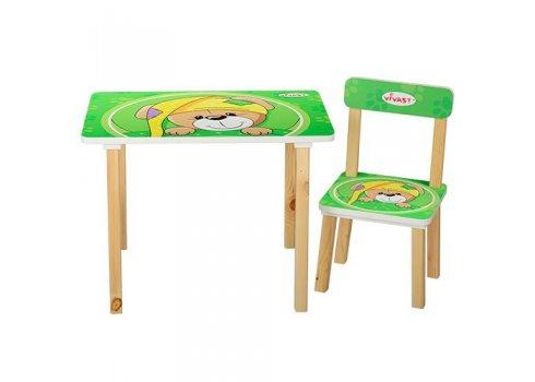 Деревянный столик со стульчиком, 501-14 Собака, салатовый
