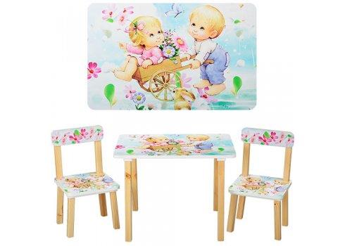 Деревянный столик и два стульчика Дети, 501-18