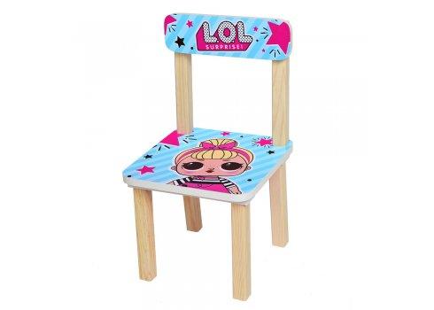 Деревянный столик и два стульчика LOL 501-24