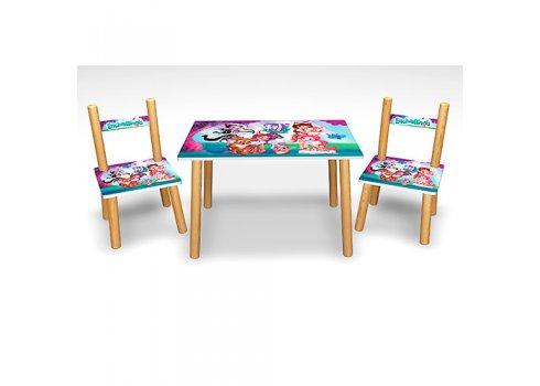 Деревянный столик со стульчиком Энчантикс, 501-25