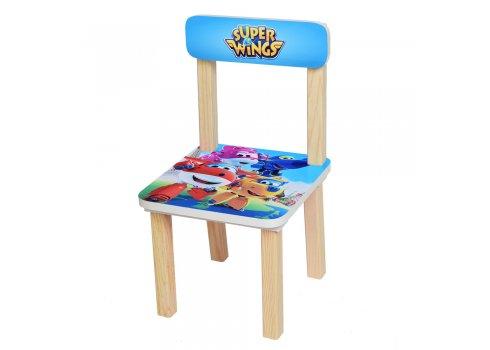 Деревянный столик и два стульчика, 501-31 Super Wings