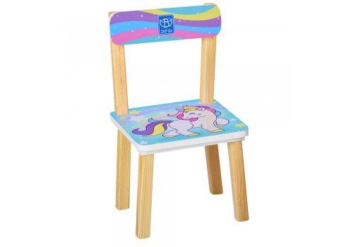 Деревянный столик и два стульчика Единорги, 501-44-4 мятный