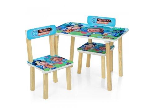 Деревянный столик и два стульчика Rusty Rivets (Расти-механик) 501-50