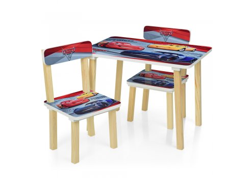 Деревянный столик и два стульчика Cars Тачки 501-52