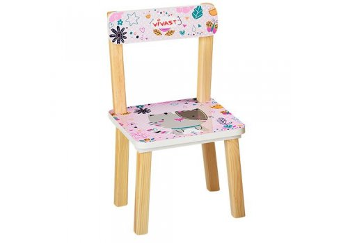 Деревянный столик со стульчиком, 501-5 Кошка