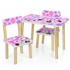 Деревянный столик и два стульчика Сова 501-62