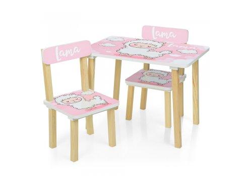 Деревянный столик и два стульчика Лама 501-72