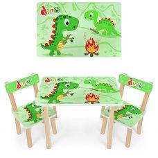 Деревянный столик и два стульчика Dino Дино 501-73