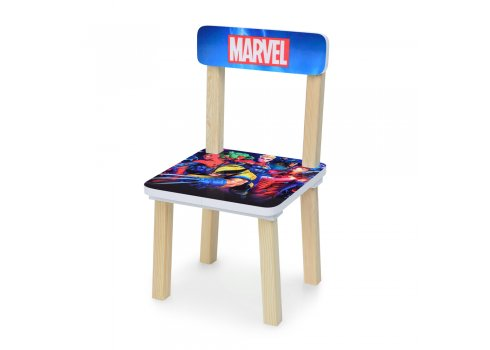 Деревянный столик и два стульчика Супергерои 501-78