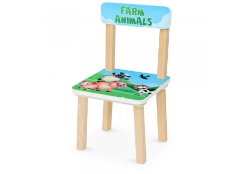 Деревянный столик и два стульчика Ферма 501-85