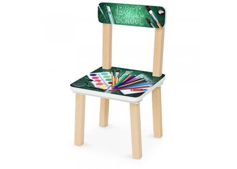 Деревянный столик и два стульчика Школа 501-86