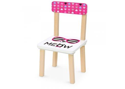 Деревянный столик и два стульчика 501-89 розовый