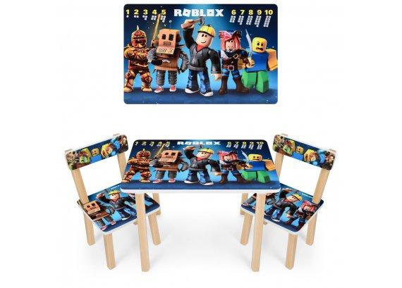 Деревянный столик и два стульчика Roblox 501-95