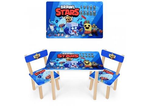 Деревянный столик и два стульчика Brawl Stars 501-96