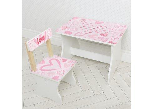 Детский стол и стул Сердце BAMBI 504-118