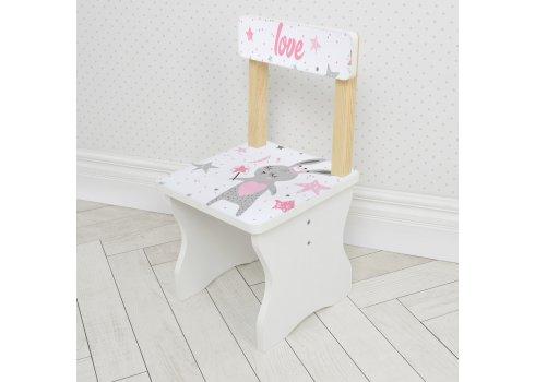 Детский стол и стул BAMBI Заяц 504-114 розовый
