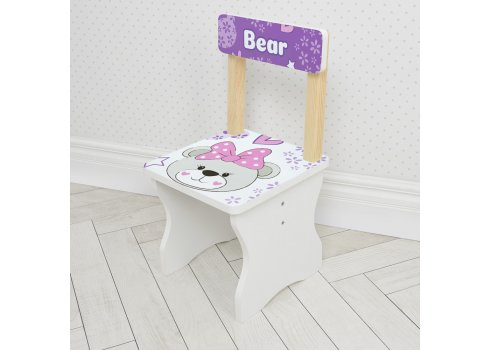 Детский стол и стул BAMBI Мишка 504-120 сиреневый
