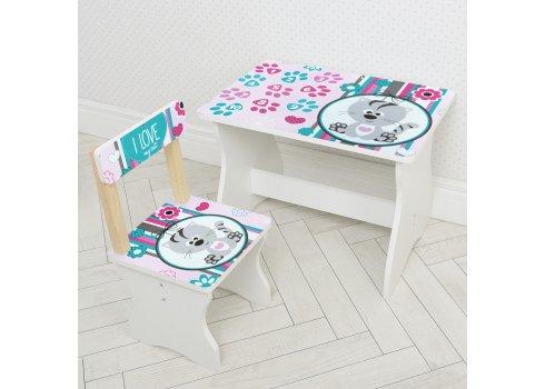 Детский стол и стул BAMBI Котенок 504-122 розовый